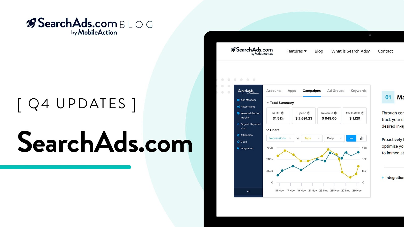 searchads.com dashboard