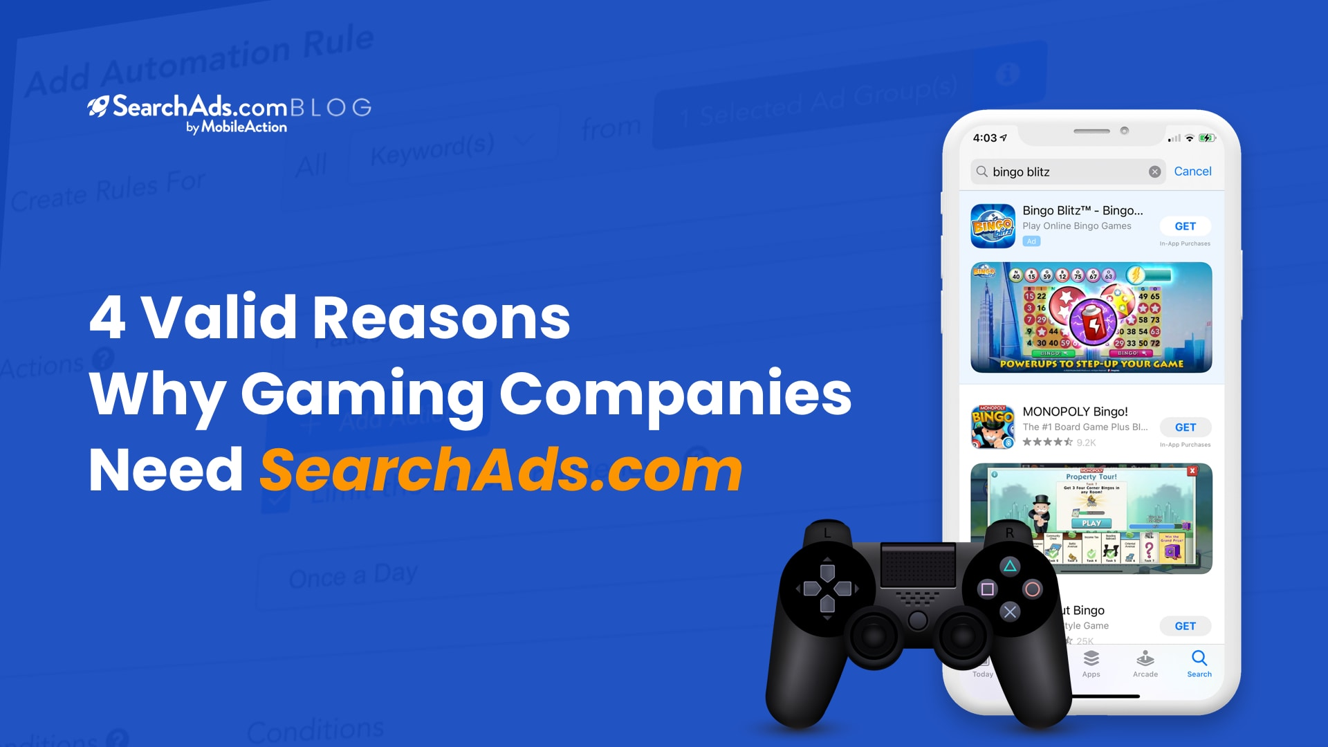 4 valid reasons why gaming companies need searchads.com