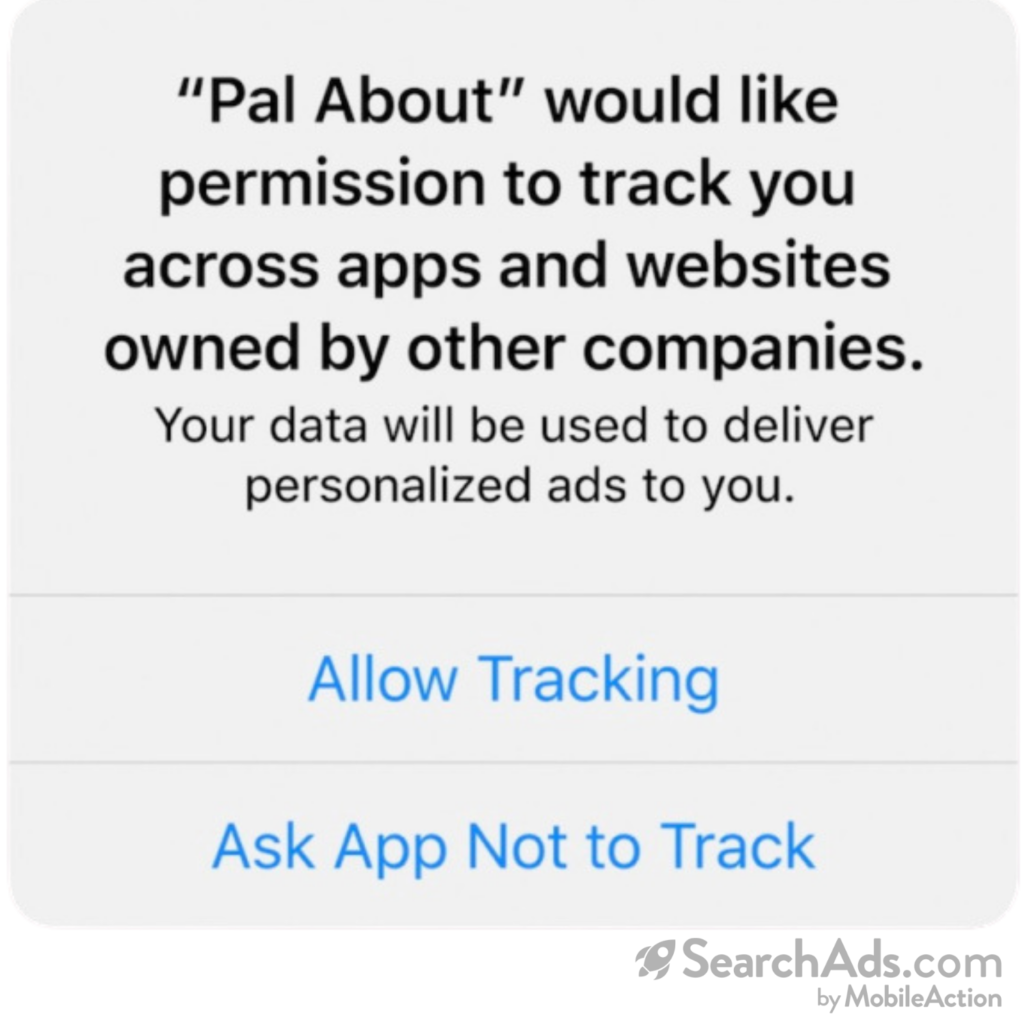 app tracking warning after IDFA changes